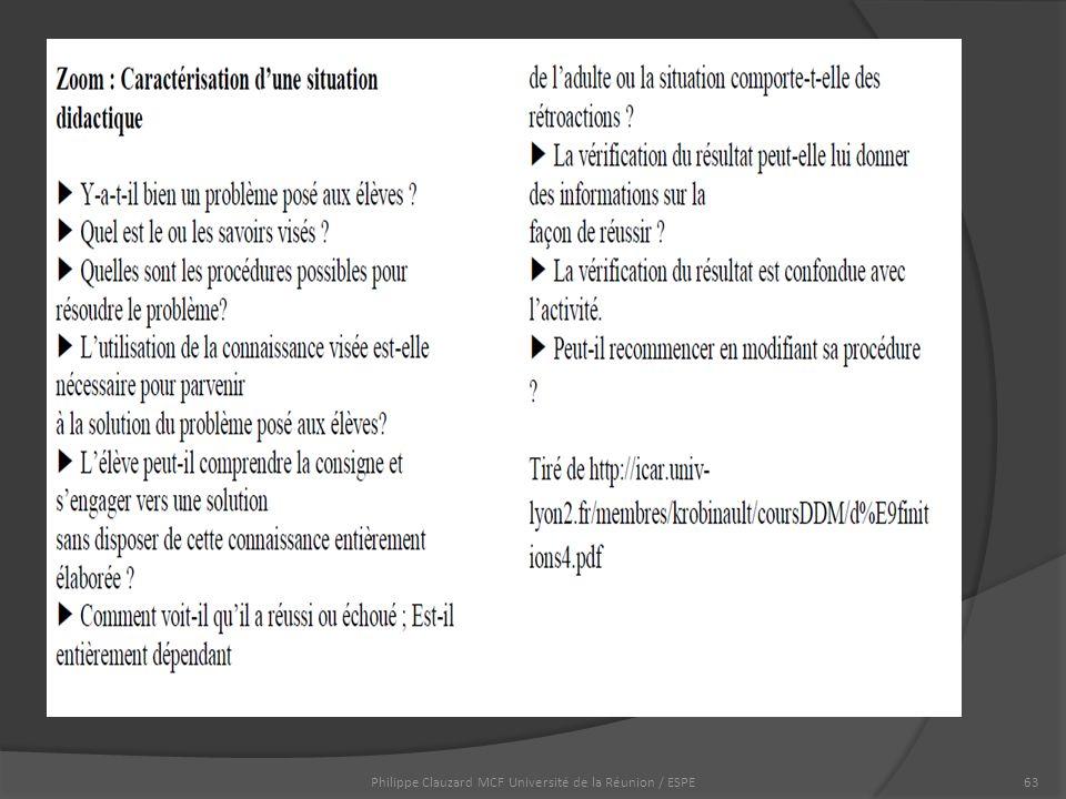 Philippe Clauzard MCF Université de la Réunion / ESPE63