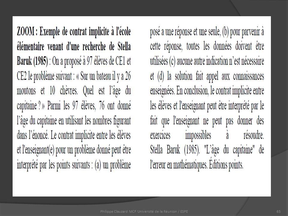 Philippe Clauzard MCF Université de la Réunion / ESPE65