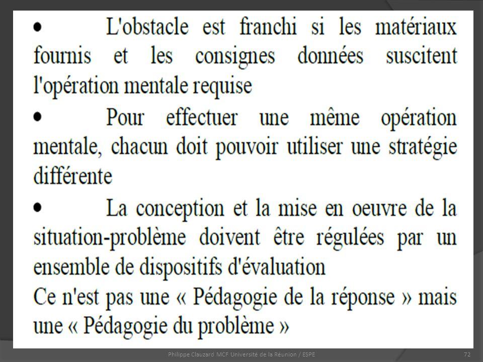 Philippe Clauzard MCF Université de la Réunion / ESPE72