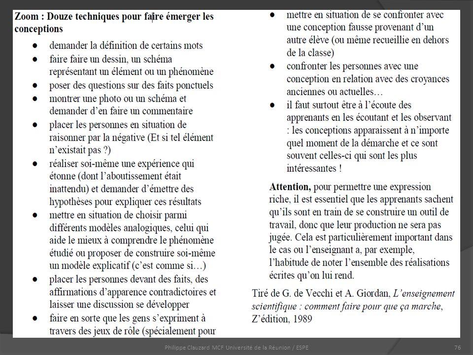 Philippe Clauzard MCF Université de la Réunion / ESPE76