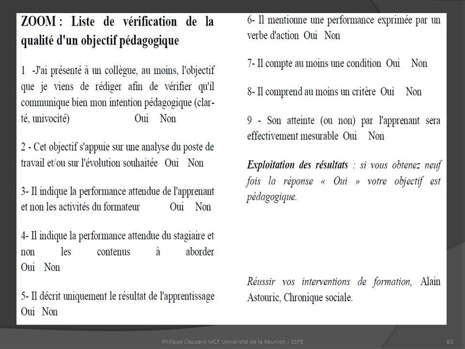Philippe Clauzard MCF Université de la Réunion / ESPE80