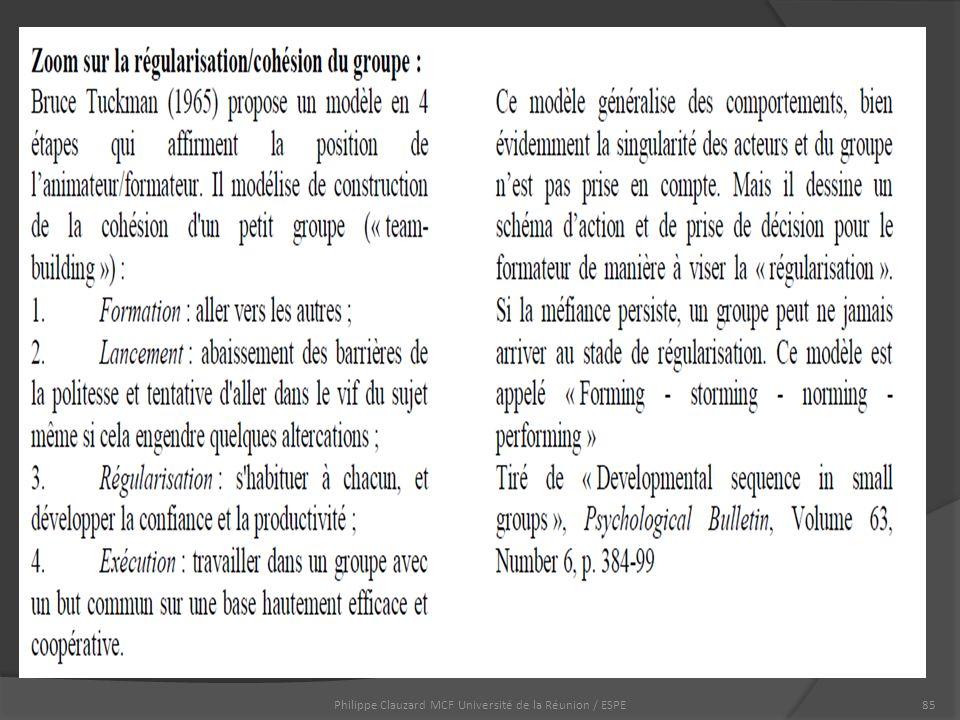 Philippe Clauzard MCF Université de la Réunion / ESPE85