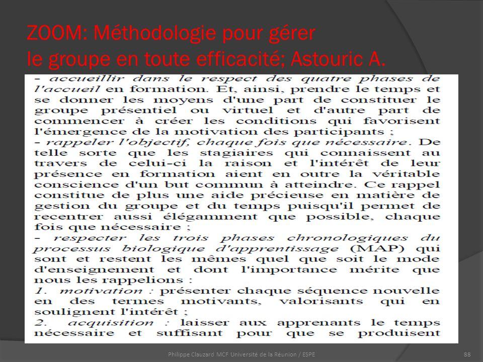 ZOOM: Méthodologie pour gérer le groupe en toute efficacité; Astouric A.