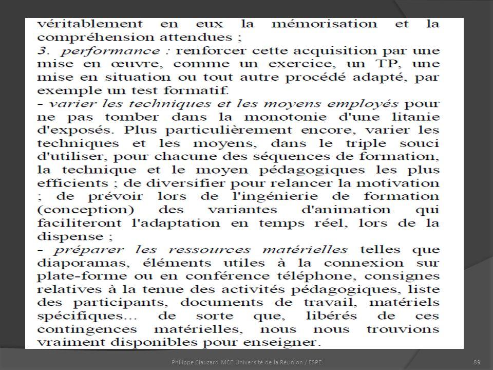 Philippe Clauzard MCF Université de la Réunion / ESPE89