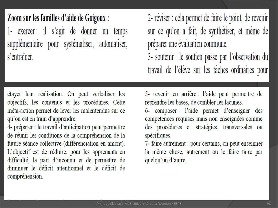 Philippe Clauzard MCF Université de la Réunion / ESPE93