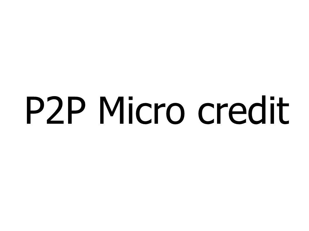 P2P Micro credit