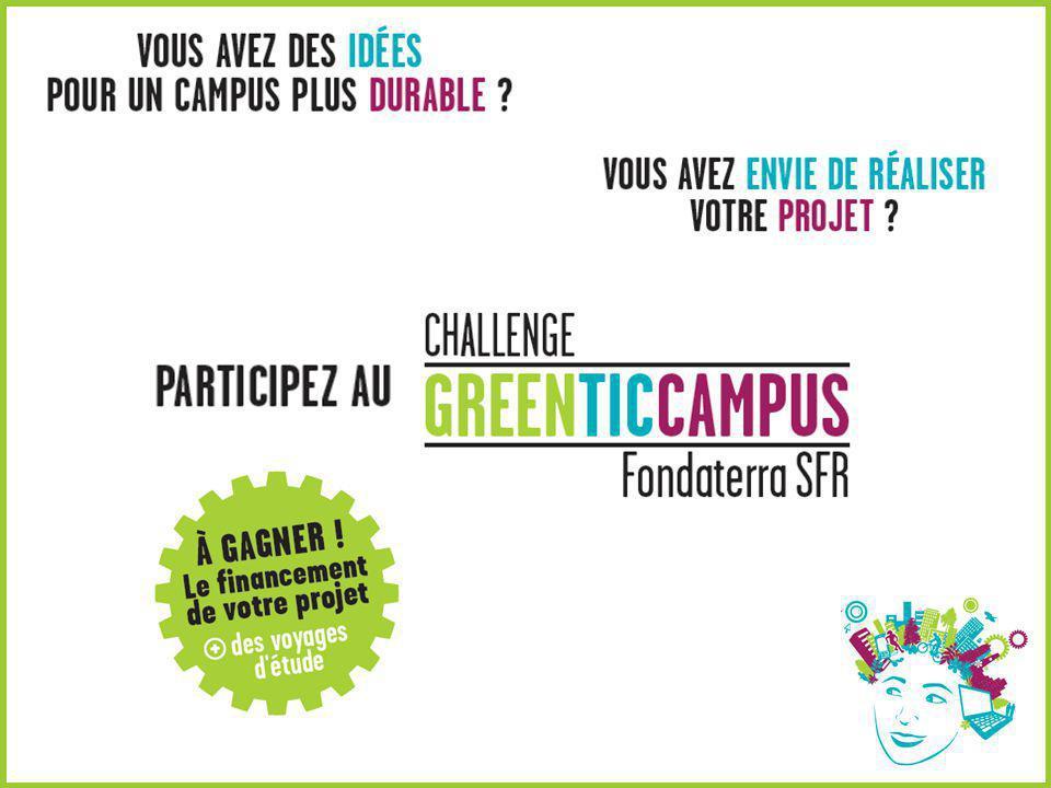 Participez au Challenge Green TIC Campus Fondaterra SFR .