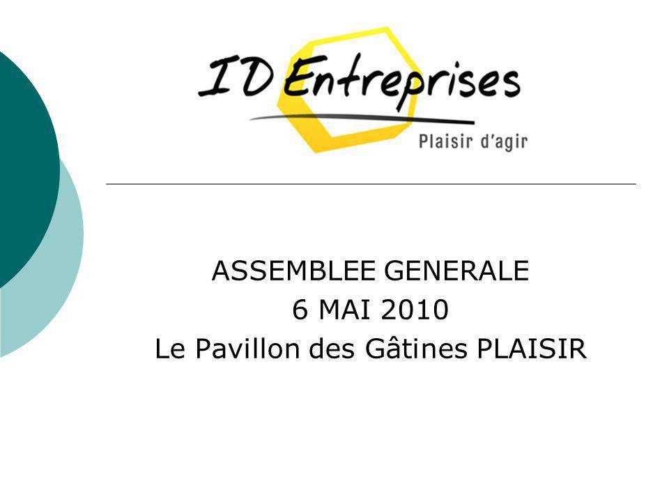 ASSEMBLEE GENERALE 6 MAI 2010 Le Pavillon des Gâtines PLAISIR