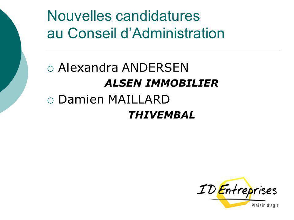 Election au poste de Secrétaire Démission de Stéphane SOYER CREDIT MUTUEL Candidature de Damien MAILLARD THIVEMBAL