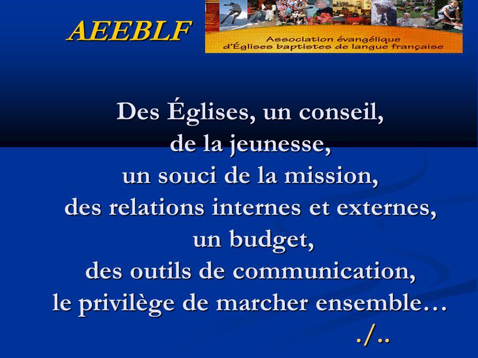 Des Églises, un conseil, de la jeunesse, un souci de la mission, des relations internes et externes, un budget, des outils de communication, le privilège de marcher ensemble…./..