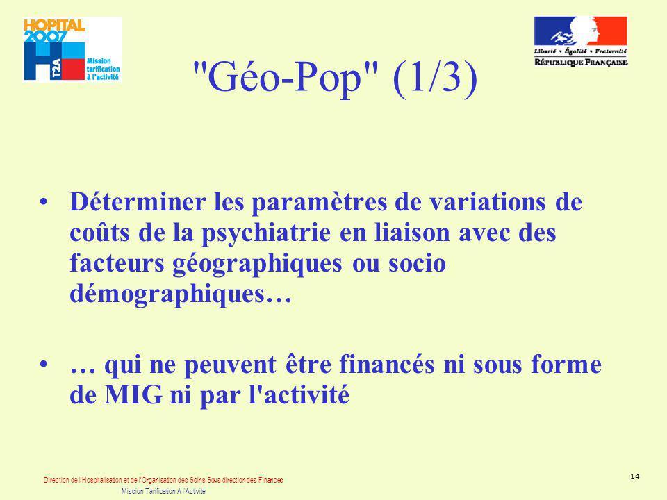 Direction de lHospitalisation et de lOrganisation des Soins-Sous-direction des Finances Mission Tarification A lActivité 14