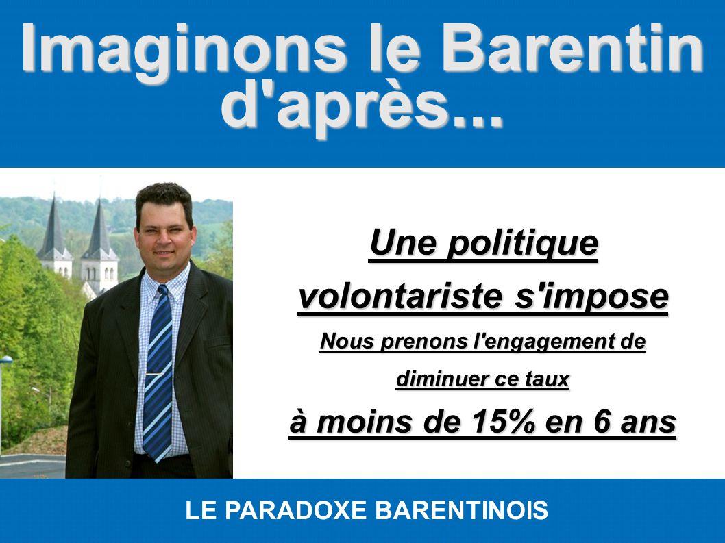 Imaginons le Barentin d'après... LE PARADOXE BARENTINOIS Une politique volontariste s'impose Nous prenons l'engagement de diminuer ce taux à moins de