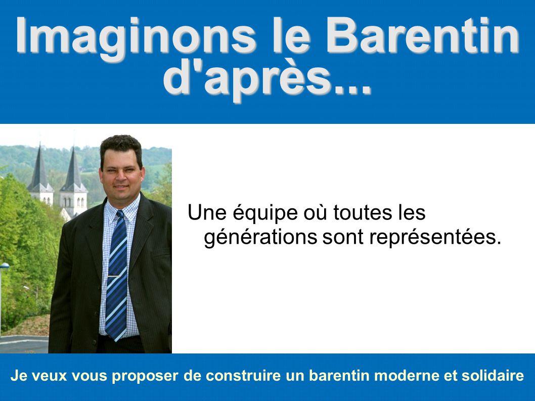 Imaginons le Barentin d'après... Je veux vous proposer de construire un barentin moderne et solidaire Une équipe où toutes les générations sont représ