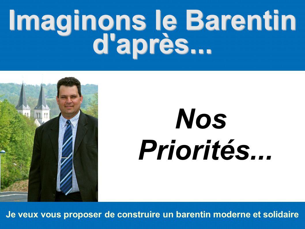 Imaginons le Barentin d'après... Je veux vous proposer de construire un barentin moderne et solidaire Nos Priorités...