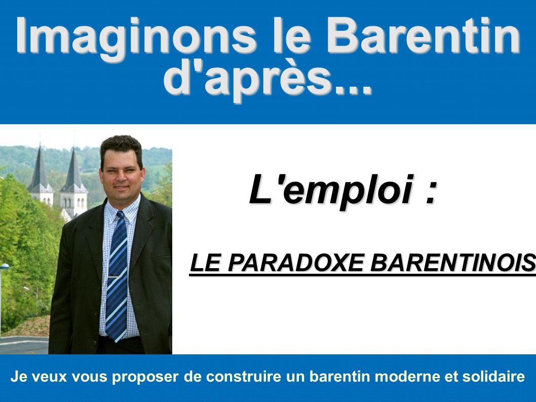 Imaginons le Barentin d'après... Je veux vous proposer de construire un barentin moderne et solidaire L'emploi : LE PARADOXE BARENTINOIS