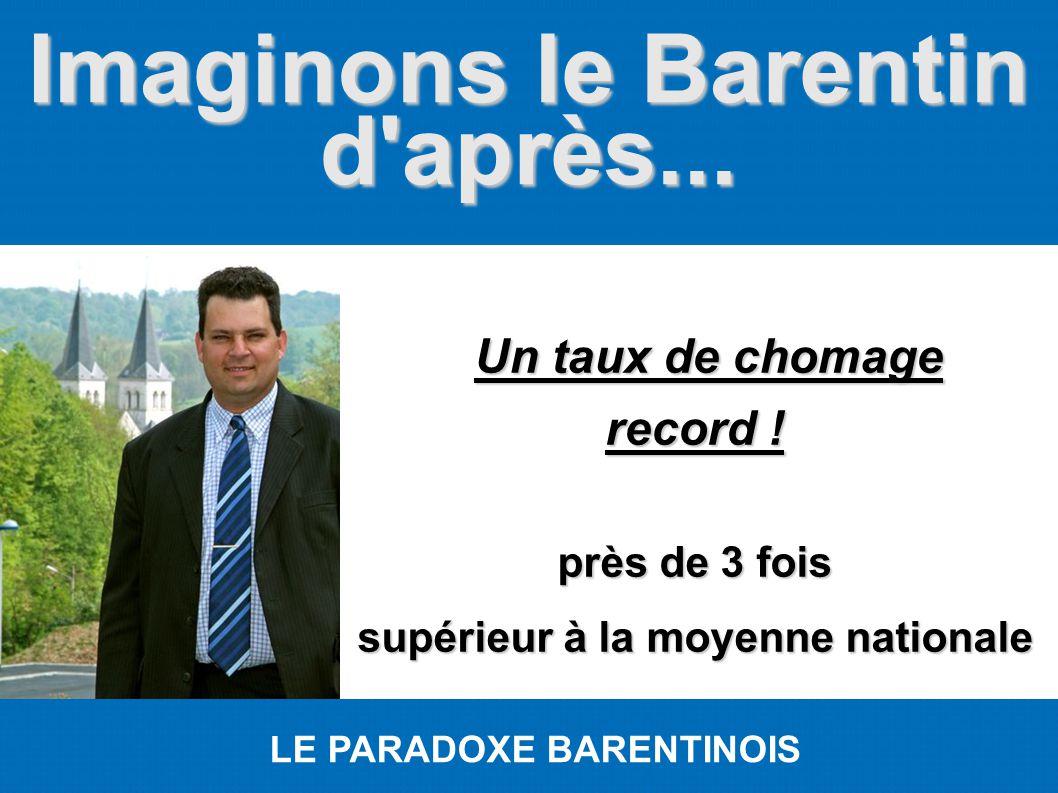 Imaginons le Barentin d'après... LE PARADOXE BARENTINOIS Un taux de chomage Un taux de chomage record ! près de 3 fois supérieur à la moyenne national