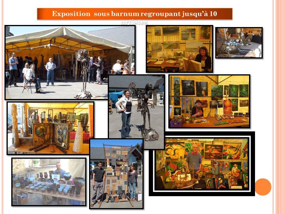 Exposition sous barnum regroupant jusquà 10 artistes