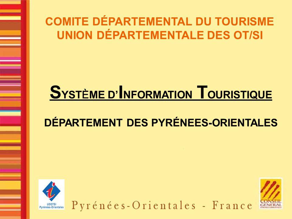 S YST È ME D I NFORMATION T OURISTIQUE DÉPARTEMENT DES PYRÉNEES-ORIENTALES COMITE DÉPARTEMENTAL DU TOURISME UNION DÉPARTEMENTALE DES OT/SI