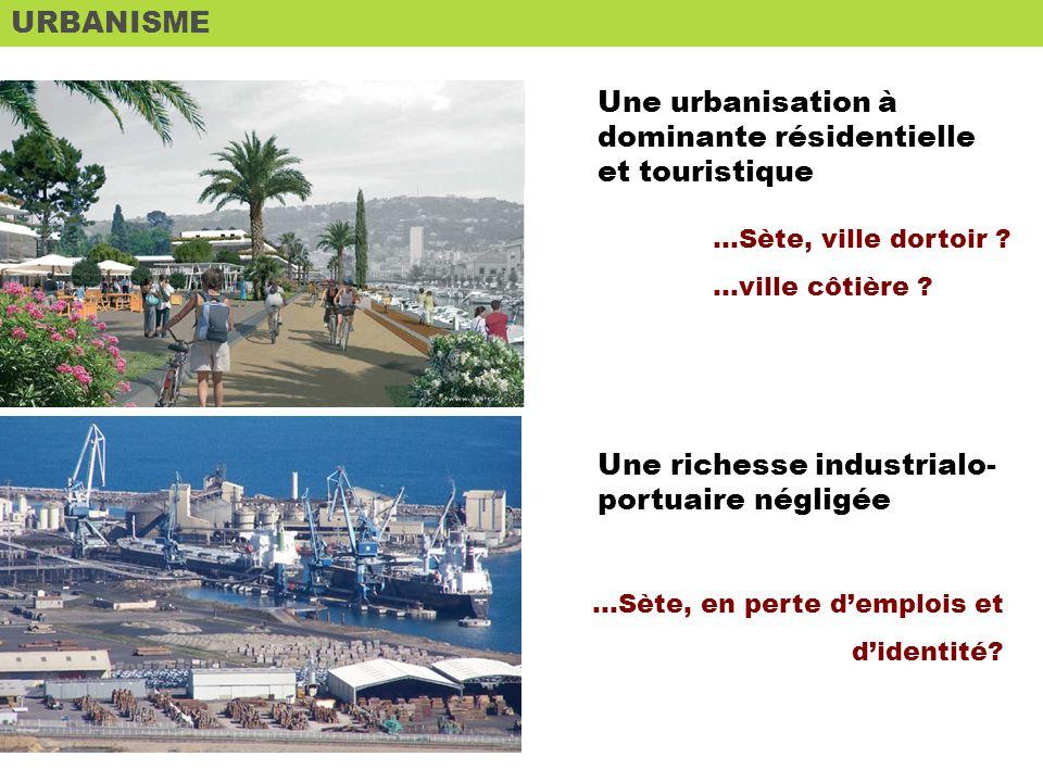 URBANISME Une urbanisation à dominante résidentielle et touristique …Sète, ville dortoir .