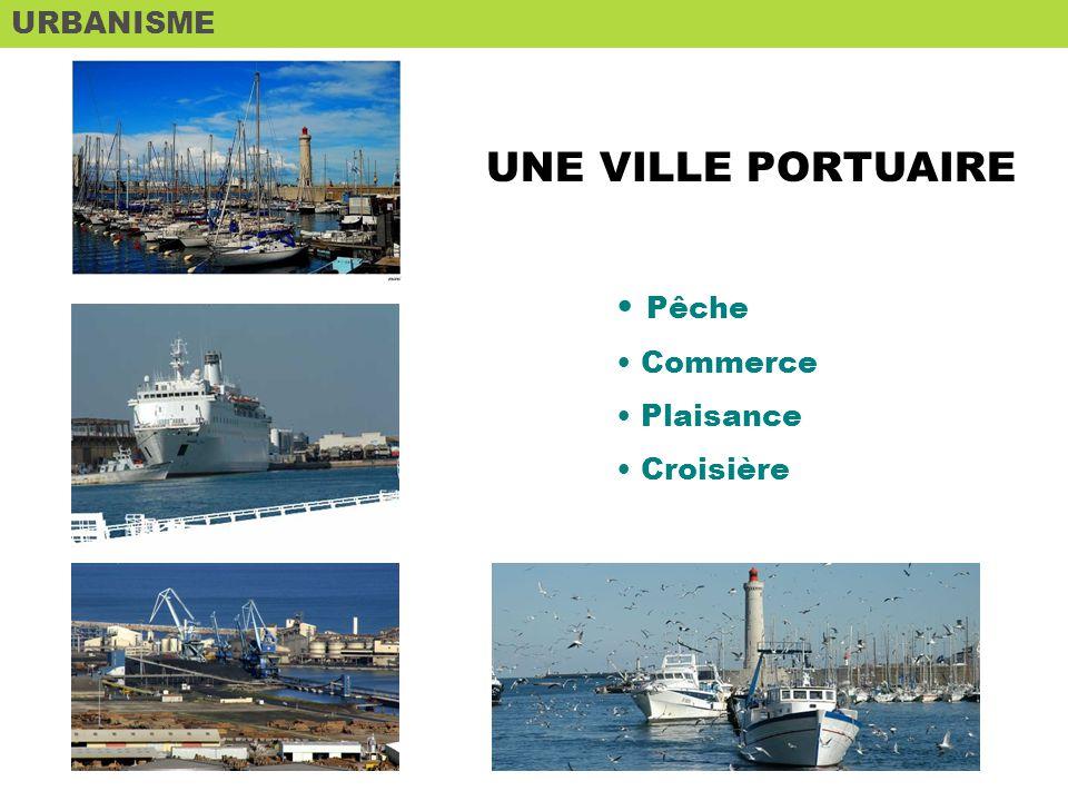 URBANISME UNE VILLE PORTUAIRE Pêche Commerce Plaisance Croisière