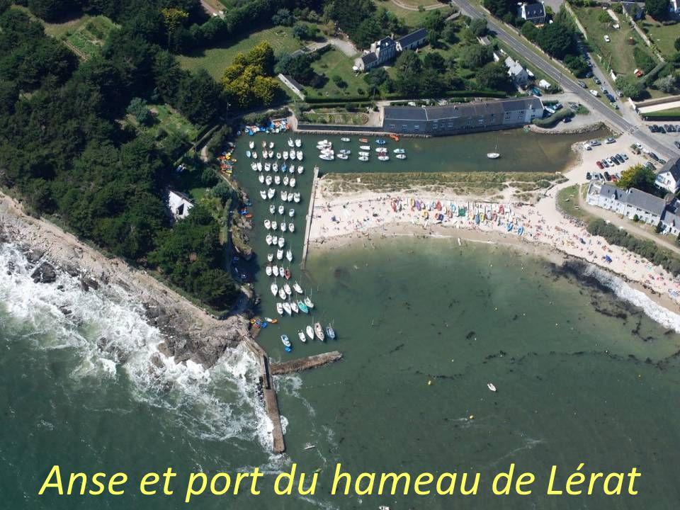 Anse et port du hameau de Lérat