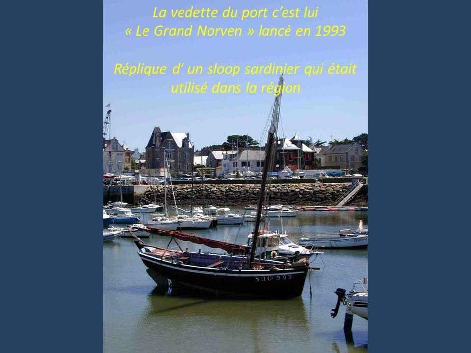La vedette du port cest lui « Le Grand Norven » lancé en 1993 Réplique d un sloop sardinier qui était utilisé dans la région