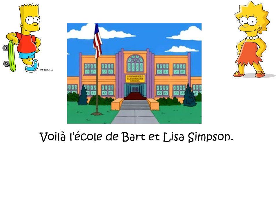 Voilà lécole de Bart et Lisa Simpson.