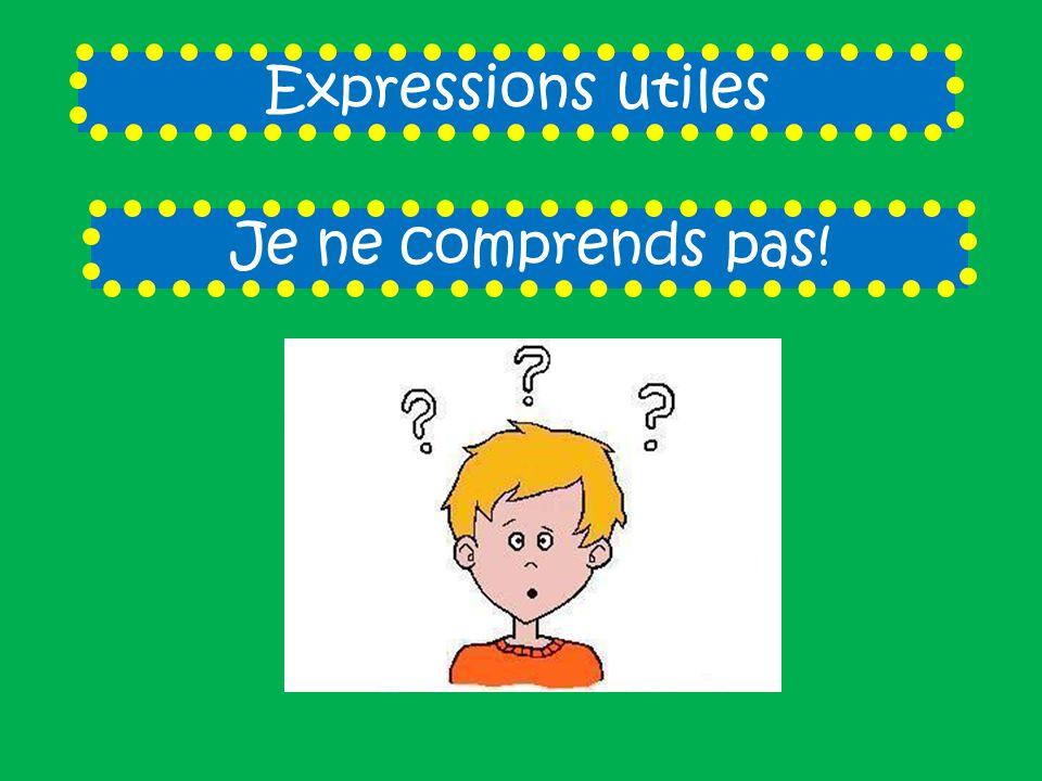 Expressions utiles Je ne sais pas!