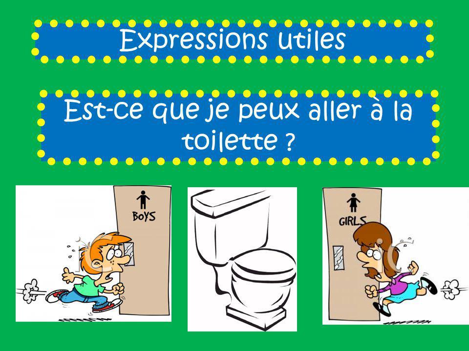Expressions utiles Est-ce que je peux aller à la toilette ?