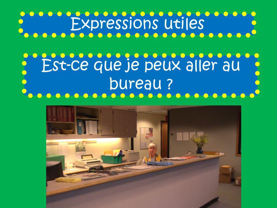 Expressions utiles Est-ce que je peux aller au bureau ?