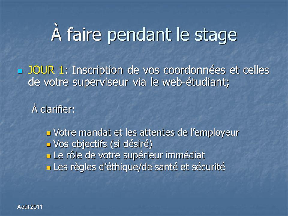 Conclusion Bon stage.