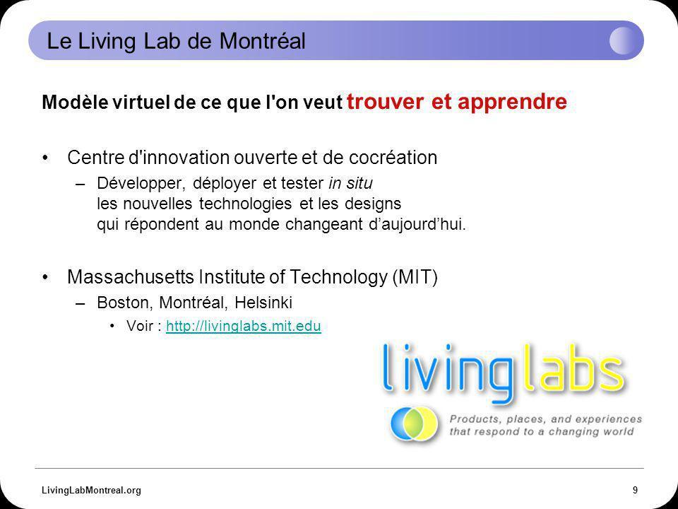 LivingLabMontreal.org20 Recherche universitaire Foldit U.