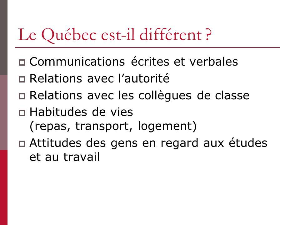 Les attitudes et comportements valorisés par les employeurs québécois lors du stage/emploi Relations avec vos collègues Comment briser la glace .