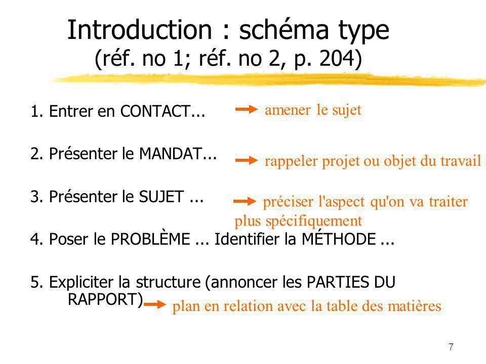 7 Introduction : schéma type (réf.no 1; réf. no 2, p.