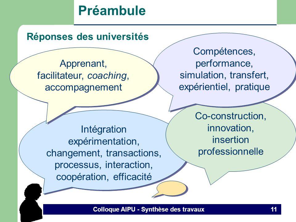 Colloque AIPU - Synthèse des travaux 10 Référentiel de compétences des comptables agrées Grille des compétences des CA http://www.cica.ca/cica/cicaweb