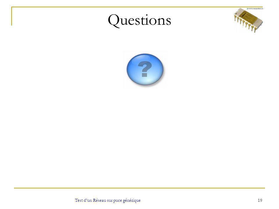 Questions 19 Test dun Réseau sur puce générique