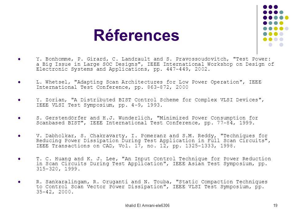 khalid El Amrani-ele630619 Réferences Y. Bonhomme, P. Girard, C. Landrault and S. Pravossoudovitch,