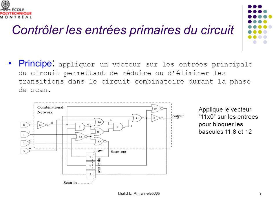 khalid El Amrani-ele630610 Le point le plus important est de trouver le vecteur optimal qui permet de diminuer le nombre de transition dans la partie combinatoire durant la phase de scan.
