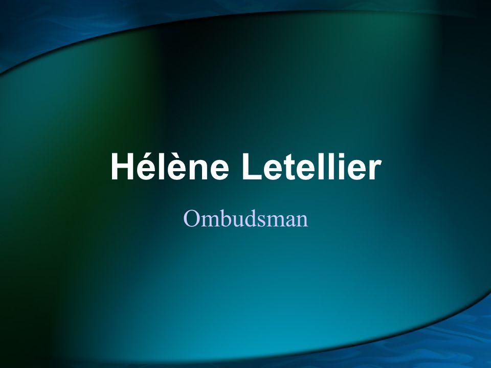 Hélène Letellier Ombudsman