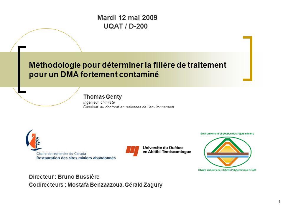 5- Travaux à venir Essai sur le terrain Remplacement dun drain dolomitique peu performent du site lorraine par la filière de traitement déterminée au laboratoire.