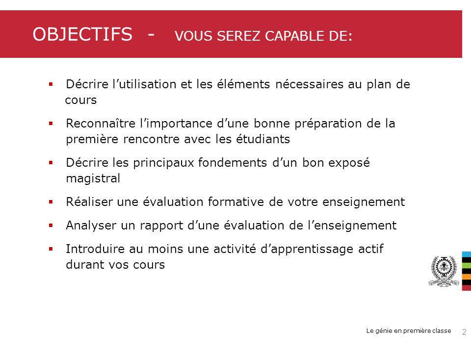 Toile d araignéeÉtapes / opérations 1 1 Arborescence 2 2 3 3 n n Représentation structurante 23 HEC Montréal | Carte conceptuelle | DAIP Permet à l enseignant de modéliser le plan du cours, une séance ou une partie de la matière Permet aux étudiants de modéliser l état de leurs connaissances