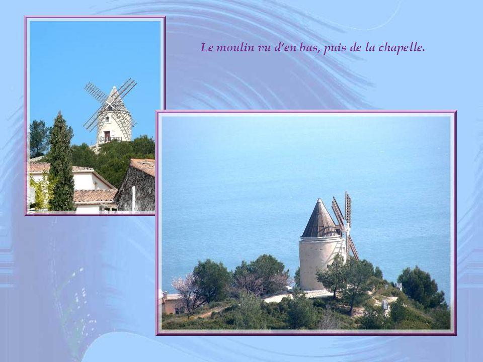 Le moulin vu den bas, puis de la chapelle.