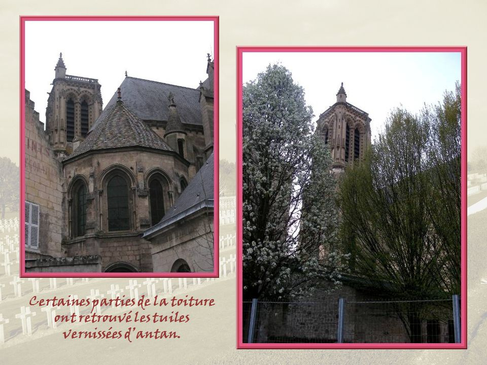 Quatre ans de bombardements vinrent à bout de la tour et dune partie de la nef. Ce nest quen 1937 que la cathédrale entière fut rendue au culte.