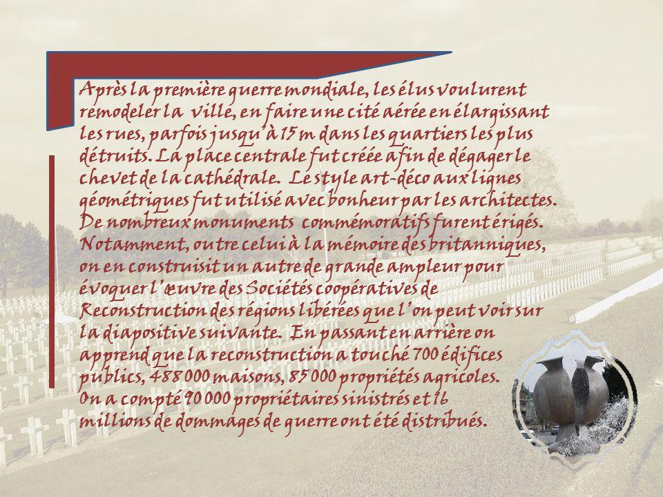 Il se veut un hommage aux soldats de lempire britannique tombés dans lAisne et la Marne durant la première guerre mondiale, sans que leurs corps ne so