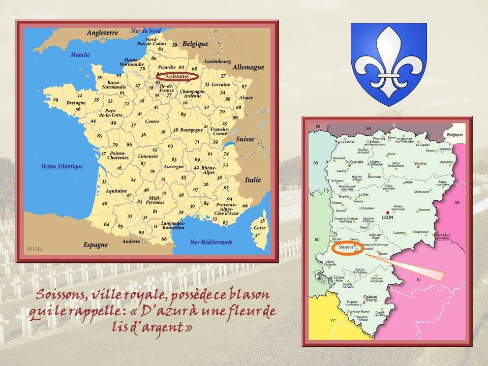 A prime abord, Soissons, ville denviron 30 000 habitants, située à 100 km au nord de Paris, apparaît comme une ville moderne, aérée, avec très peu de vieux quartiers et de larges avenues bordées de maisons élégantes et cossues tout juste centenaires… Cest que Soissons est une ville martyre de la première guerre mondiale, occupée par les Allemands fin août 1914, reprise par les Français un mois plus tard lors de la bataille de la Marne, puis de nouveau par les Allemands en 1918.