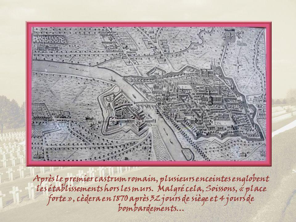 Après le premier castrum romain, plusieurs enceintes englobent les établissements hors les murs.