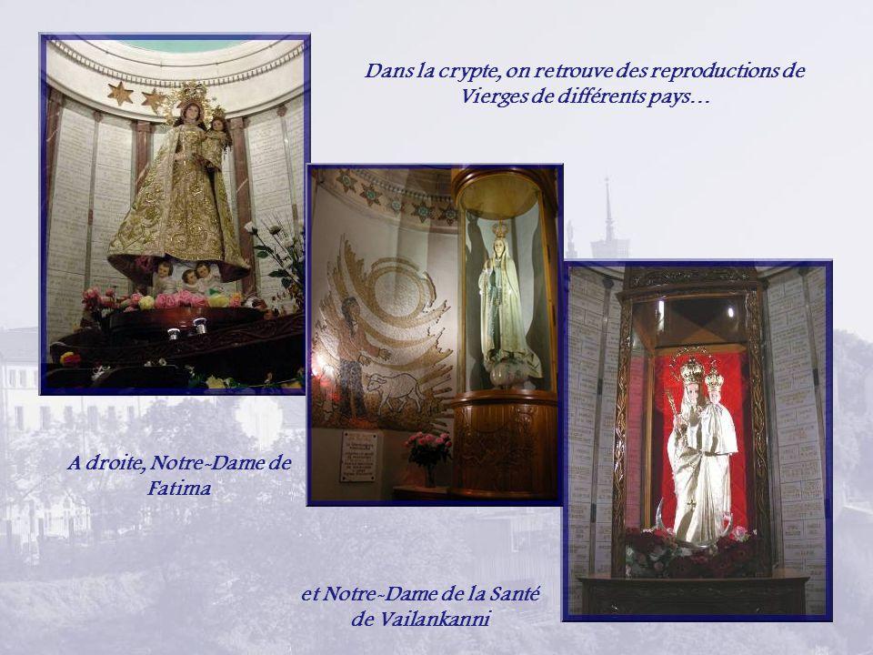 La crypte dédiée à Saint-Joseph. Larchitecte, Pierre Bossan, lui vouait un culte particulier.