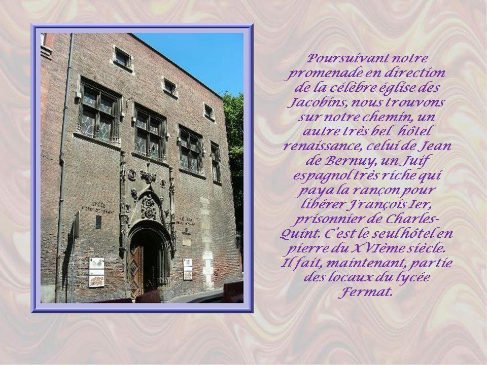 Face au quai du même nom, léglise de la Daurade est chère aux Toulousains. Elle abrite une Vierge noire à qui lon prête de grands pouvoirs de protecti