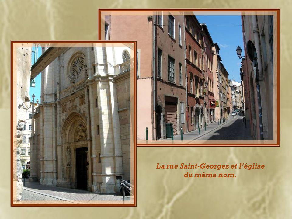 La rue Saint-Georges et léglise du même nom.