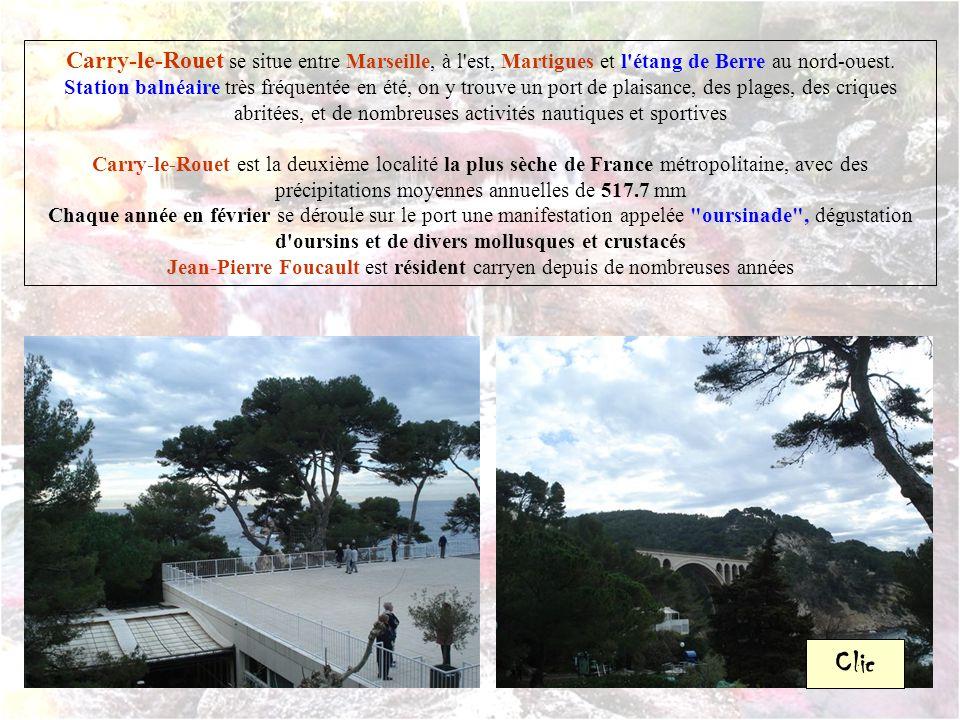 Carry-le-Rouet se situe entre Marseille, à l est, Martigues et l étang de Berre au nord-ouest.